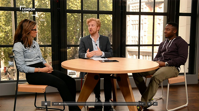 London Live UK channel 117 interview with Luke Blackall
